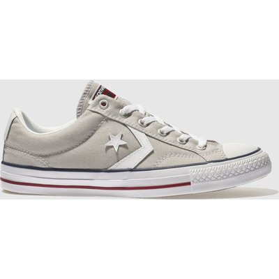 Converse Light Grey Star Player Ox Trainers