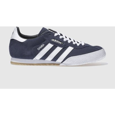 adidas navy   white samba super suede trainers - 4003426997233