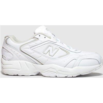 New Balance White & Grey 452 Trainers