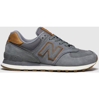 New Balance Brown & Grey 574 Premium Trainers