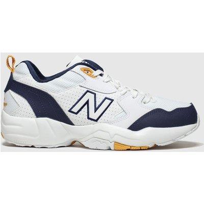 New Balance White & Navy 708 Trainers