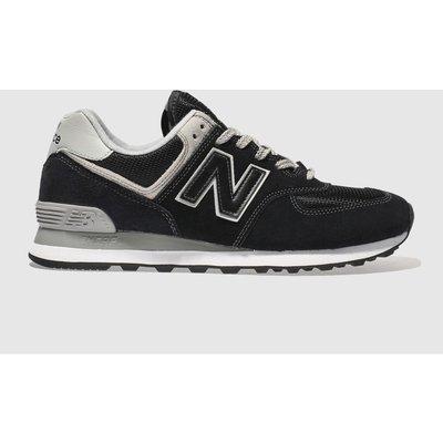New Balance Black & Grey 574 Trainers