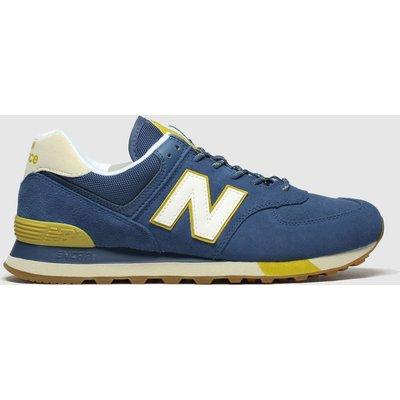 New Balance Blue & Yellow 574 Trainers