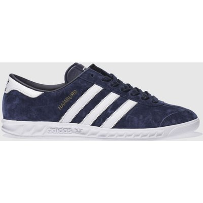 adidas navy   white hamburg trainers - 4055341168021