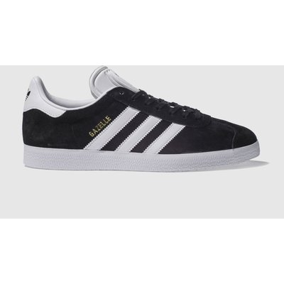adidas black   white gazelle trainers - 4056566349622