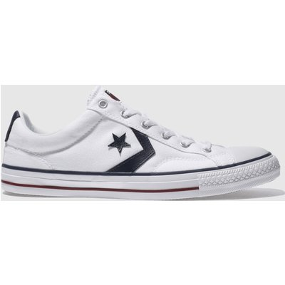 Converse White & Navy Star Player Re-mastered Trainers