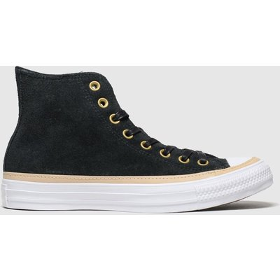 Converse Black & White All Star Vachetta Hi Trainers