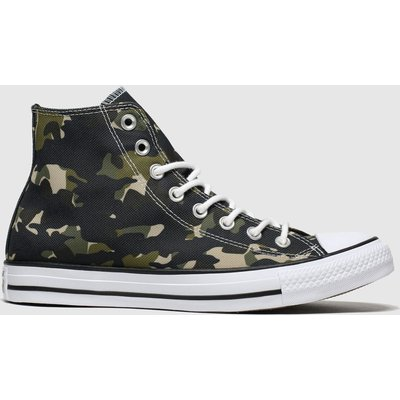 Converse Khaki All Star Camo Hi Trainers