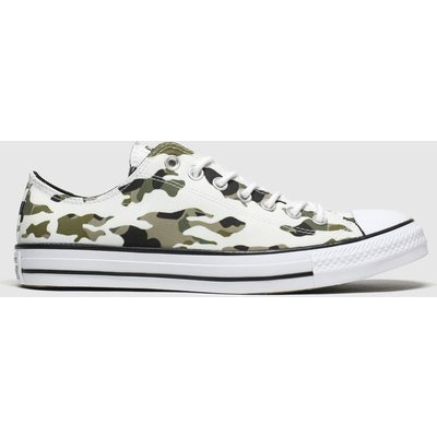 Converse White & Green All Star Hoop Hunter Ox Trainers