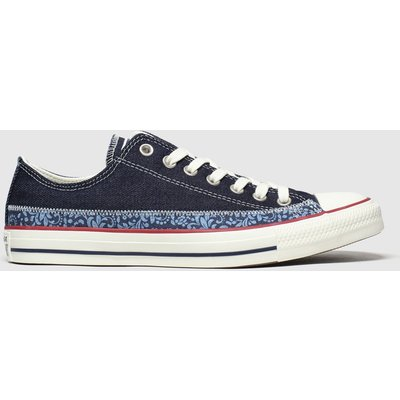 Converse Navy Ox Floral Trainers