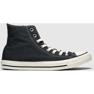 Converse Black Hi Washed Trainers