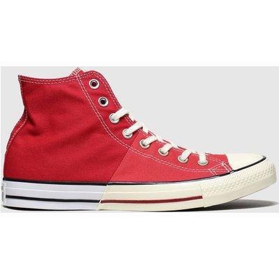Converse Red Split Hi Trainers