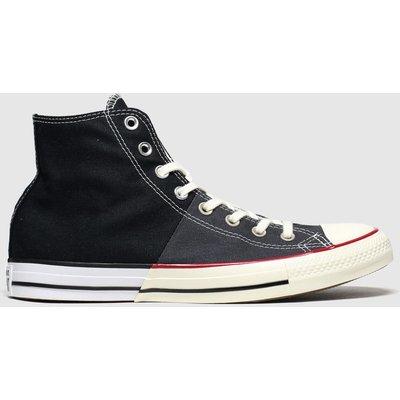 Converse Black & White Split Hi Trainers