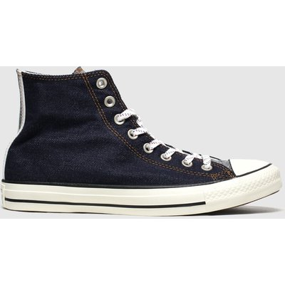 Converse Navy All Star Denim Hi Trainers