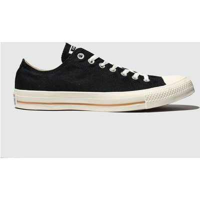 Converse Black All Star Washed Ox Trainers