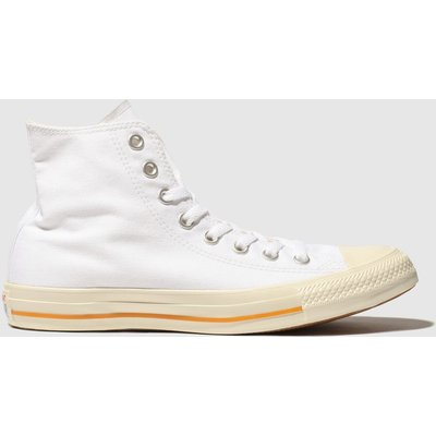 Converse White All Star Washed Hi Trainers