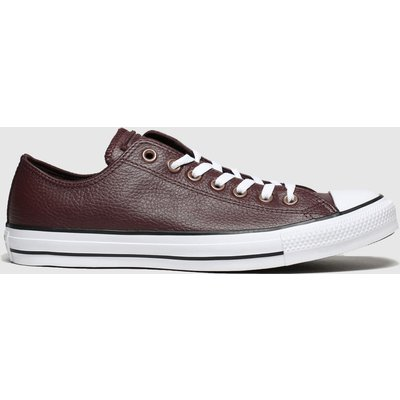 Converse Dark Brown All Star Leather Ox Trainers