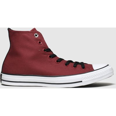 Converse Burgundy All Star Space Explorer Hi Trainers