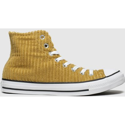 Converse Tan All Star Wide Wale Cord Hi Trainers