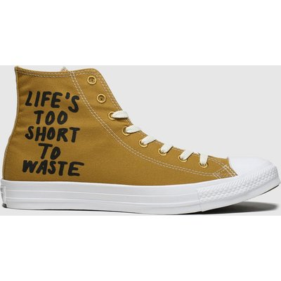 Converse Tan Chuck Taylor All Star Renew Hi Trainers