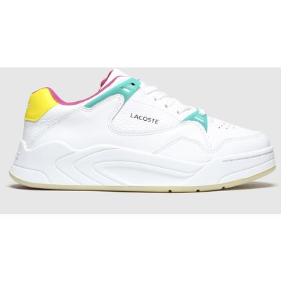 Lacoste White & Yellow Court Slam Trainers