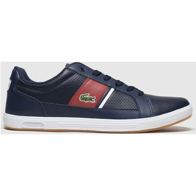 Lacoste Navy & Red Europa Trainers