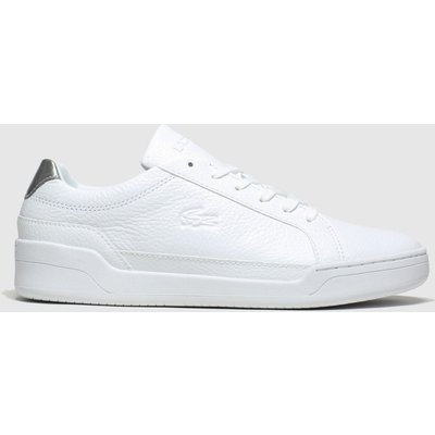 Lacoste White & Silver Challenge Trainers
