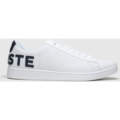 Lacoste White & Navy Carnaby Evo Trainers