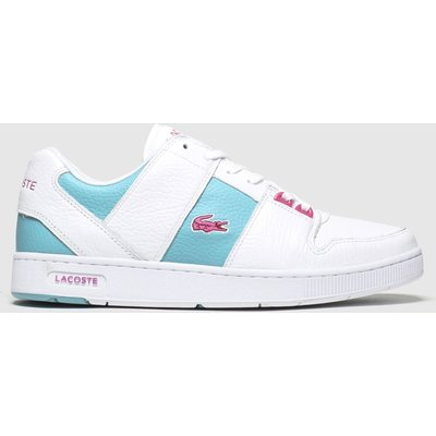 Lacoste White & Green Thrill Trainers