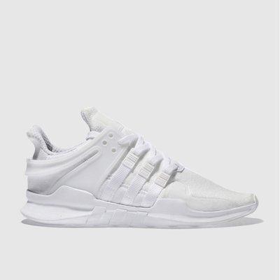 sale retailer ab995 8f2b0 adidas white eqt support adv trainers