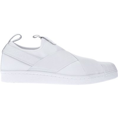 adidas white superstar slip on trainers - 4058025453482