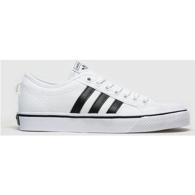 Adidas White & Black Nizza Trainers