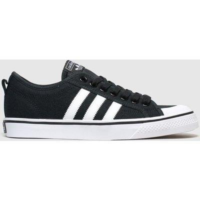 Adidas Black & White Nizza Trainers