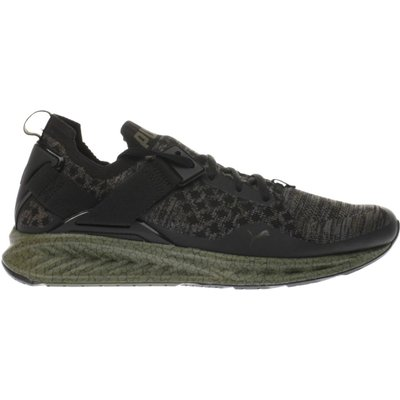 puma black   green ignite limitless evoknit trainers - 4057828152721