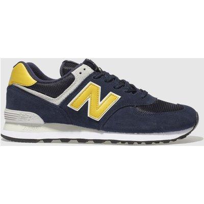 New Balance Navy & Grey 574 Trainers