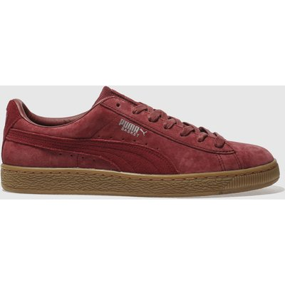puma burgundy basket classic wp trainers - 4057827869996
