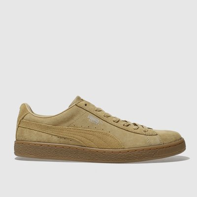 puma tan basket classic trainers - 5054458211438
