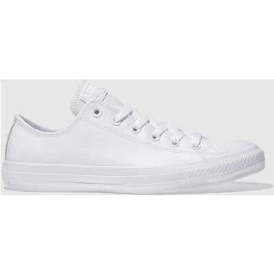 Converse White All Star Leather Mono Ox Trainers