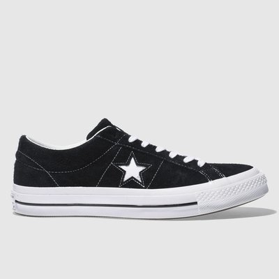 Converse Black & White One Star Suede Ox Trainers