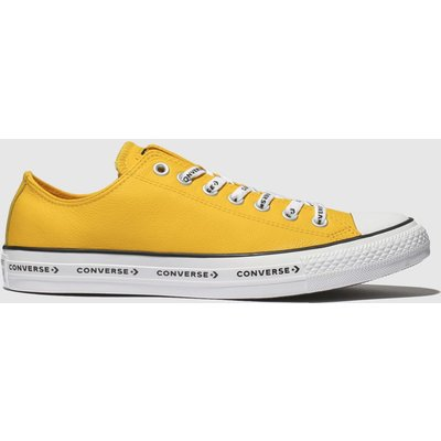 Converse Yellow All Star Ox Logo Laces Trainers