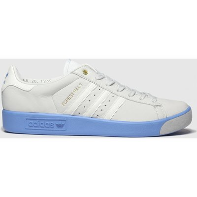 Adidas White & Blue Forest Hills Trainers