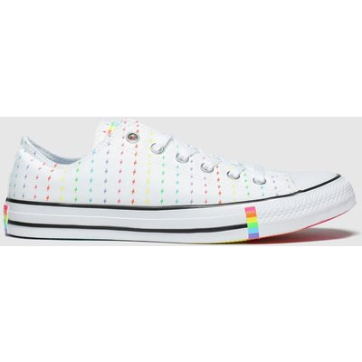 Converse White & Red All Star Pride Ox Trainers