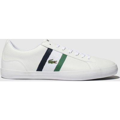 Lacoste White & Green Lerond Trainers