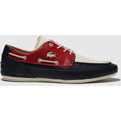 Lacoste Navy & Red Marina Trainers