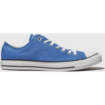 Converse Blue All Star Washed Ox Trainers