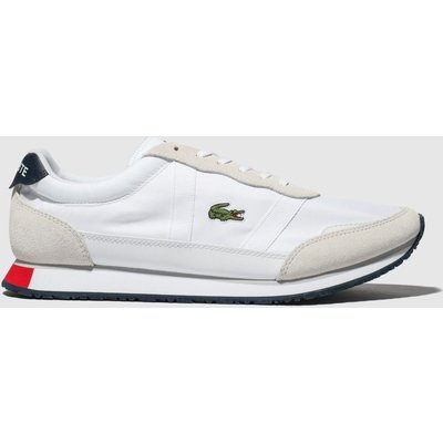 Lacoste White & Navy Partner Trainers