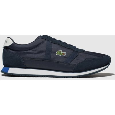 Lacoste Navy & White Partner Trainers
