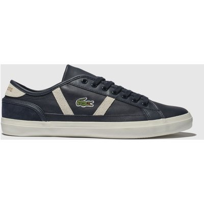 Lacoste Navy & White Sideline Trainers
