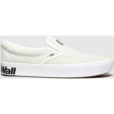 Vans White & Black Comfycush Slip-on Trainers
