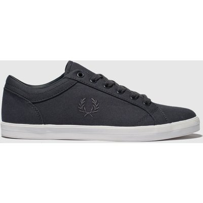 Fred Perry Dark Grey Baseline Canvas Trainers